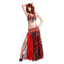 Dancewear Polyester With Beading/Print Performance Belly Dance Outfit For Ladies More Colors