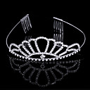 Gorgeous Elaborating Cubic Zirconia In Alloy Tiara