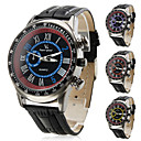Men's PU Analog Quartz Wrist Watch with Tachymeter (Assorted Colors)