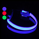 9Protecollar - Adjustable Dual Night Safety LED Light Dog Collar (25 - 35cm, Battery included)