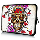 Skull Rose Neoprene Laptop Sleeve Case for 10-15&quot; iPad MacBook Dell HP Acer Samsung