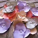 Clover Shaped Handmade Petals With White Pearl in Center - Pack of 50 Pieces (More Colors)