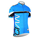 lyciens-hommes 100% polyester  manches courtes maillot cycliste (bleu)