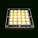 25 - LED Artistic Glass Underground Lights Solar Powered