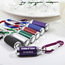 Personalized Beer Bottle Shaped Keyring With Flashlight - Set of 4 - (More Colors)