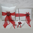 Ring Pillow With Guest Book and Pen Set (3 Pieces)