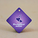 Personalized Rhombus Favor Tag - Purple Hearts (Set of 30)