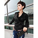 Long Sleeve Turndown Collar Party/ Career PU Jacket