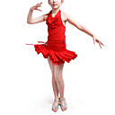 Dancewear Polyester With Ruffles Latin Top and Skirt 2 Pieces Set for Kids