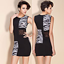 ts animal print mozaek bodycon jurk