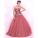 Ball Gown Sweetheart Floor-length Tulle And Taffeta Prom Dress