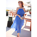 Lady Elegant Shoulder Exposed Dress