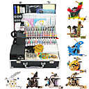 8 Tattoo Gun Kit for Lining and Shading (1 Damascus Steel Tattoo Machine and 7 Alloy Tattoo Machine)