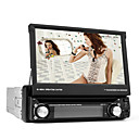 7 Inch Digital Touch Screen 1 Din Car DVD Player Support TV, RDS, 3D Menu