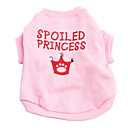 Pink Crown Cotton T-shirt for Dogs (XS, M, L)