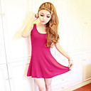 Slimming Tunic Knit Vest Sheath Dress