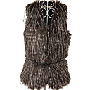 Sleeveless Collarless Party Faux Fur Vest(More Colors)