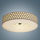 40W Comtemporary Round Flush Mount in Honeycomb Design