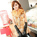 Sleeveless Turndown Collar Evening/Career Fox Fur Vest