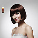Capless 100% Human Hair Short Bob Brown Synthetic Wig 5 Colors To Choose