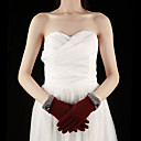 Wool Fingertips Wrist Length Party/Evening Gloves With Pearls (More Colors)
