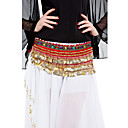 Women Dancewear Velet With 338 Coins Performance Belly Dance Hip Scarf More Colors Available