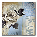 Printed Floral Canvas Art with Stretched Frame