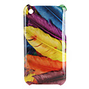 Colorful Feathers Pattern Hard Case for iPhone 3G and 3GS (Multi-Color)