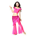 Dancewear Cystal Cotton/Tulle/Sequined Belly Dance Top/Belt And Pant For Ladies