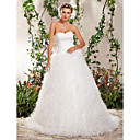 Ball Gown Strapless Sweetheart Court Train Tulle Wedding Dress