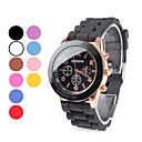 Unisex Plastic Analog Quartz Wrist Watch (Assorted Colors)