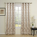 (Two Panels) Modern Rings Jacquard Energy Saving Curtains