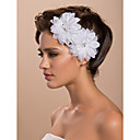 bridal casamento lindo tule duas flor branca / corpete / headpiece