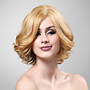 100% Human Hair Capless Short Curly Blonde Wig