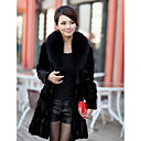 Elegante manica lunga pelliccia di volpe Collare Sera Mink Fur Coat