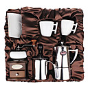 Koffie Series Boxed Cadeau (Moka & Siphon Pot, Grinder, kopjes, Bubble Milk Device) T-008