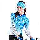 NYXEYE-100% Polyester Women's Long-Sleeve Cycling Jersey with Back-Side Brushed Fleece