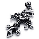 Men's Titanium Cross Pendant(Free Chain)(6*3.4*.5CM)
