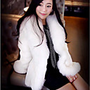 Long Sleeve Turndown Collar Casual/Evening Faux Fur Coat