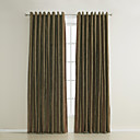 (Two Panels) Traditional Stripe Jacquard Energy Saving Curtains