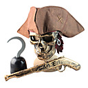 Bronze Pirate Costumes d'Halloween Masque Arme Casque