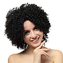 Lace Front Short Black Curly Synthetic Wigs