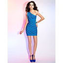 Sheath/Column One Shoulder Sleeveless Short/Mini Bandage Dress