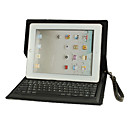 Bluetooth Keyboard Folding Leather Protective Case for the New iPad