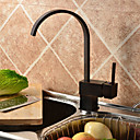 Antique Oil Rubbed Bronze Finish Solid Brass Single Handle Kitchen Faucet