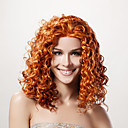 Lace Front Long High Quality Synthetic Golden Blonde Curly Hair Wig