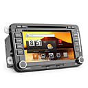 Android de 7 polegadas 2DIN carro dvd player para vw (capacitiva touchscreen, GPS, TV, wi-fi, 3g)