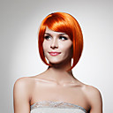 Capless Chin Length Synthetic Golden Brown Bob Style Hair Wig