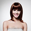 Capless Medium Length High Quality Synthetic Chocolate Brown Bob Style Hair Wig