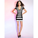 Sheath/Column Scoop Short Sleeve Short/Mini Bandage Dress